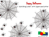 Matching Upper- and Lowercase Letters (Happy Halloween - Spiders)