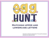 Matching Upper and Lowercase Letters Egg Hunt