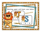 Matching Upper & lowercase letters: Independent Practice ClipCards, Dancing Lion