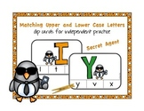 Matching Upper & lowercase letters: Independent Practice ClipCards, Secret Agent
