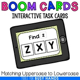 Matching Upper to Lowercase Letters Interactive Digital Task Cards (Boom! Deck)