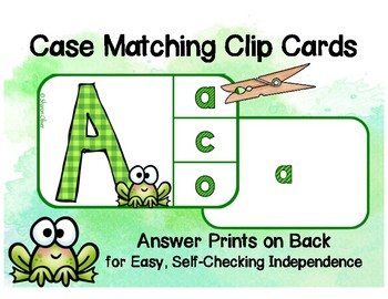 Matching Upper to lowercase Letters - Independent Practice