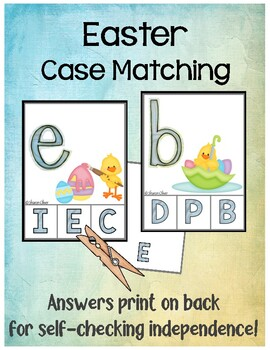 Easter Clip Cards - Matching Uppercase and Lowercase Letters
