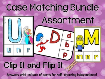 Matching Uppercase & Lowercase Letters Bundle - Assorted