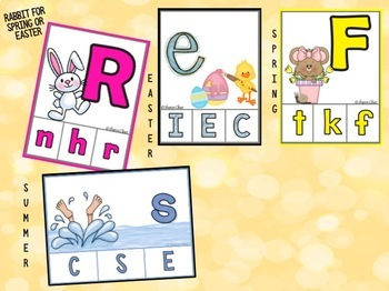 Matching Uppercase & Lowercase Letters Bundle - Seasons and Holidays