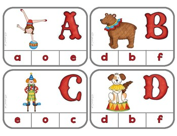 Matching Uppercase & Lowercase Letters: Circus