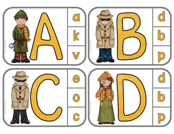 Matching Uppercase & Lowercase Letters: Detectives