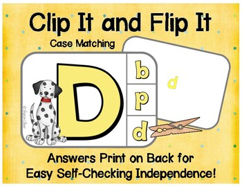 Matching Uppercase & Lowercase Letters: Dogs