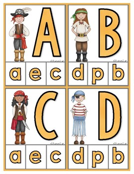 Matching Uppercase & Lowercase Letters: Pirates