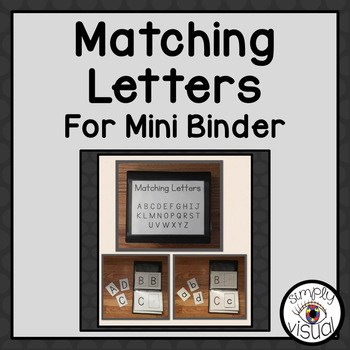 Matching Uppercase and Lowercase Letters for Mini Binder