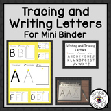 Tracing and Writing Uppercase Letters for a Mini Binder