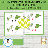 Green Eggs with Ham Matching Uppercase and Lowercase Spani