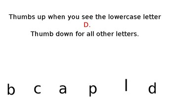 Matching Uppercase to Lowercase Letters