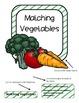 Matching Vegetables File Folder Game