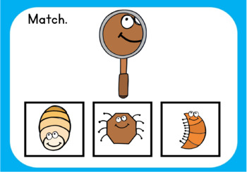 Matching Visual Discrimination Interactive Digital Task Cards (Boom! Deck)