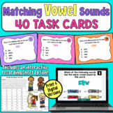 Matching Vowel Sounds Task Cards (Advanced)