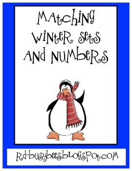 Matching Winter Themed Sets and Numbers