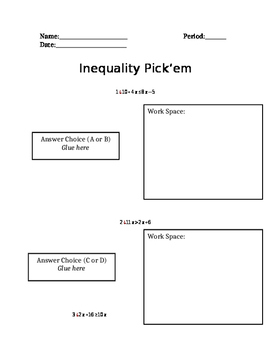 Matching Word Problems To Inequalities