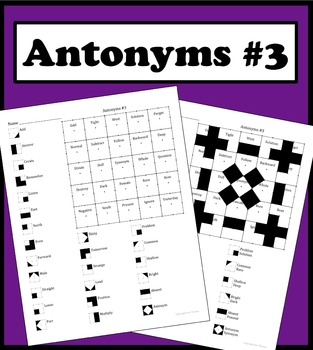 Matching Words With Its Antonym Color Worksheet #3