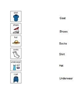 Matching Words to Pictures for Clothing