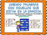 Matching Words to Sentences (Spanish) Uniendo palabras con aquellas en oraciones