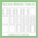 Matching Worksheet Template / Layout Clip Art Set for Comm
