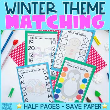 Matching Worksheets - WINTER