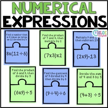 Matching Written and Numerical Expressions [Matching Puzzle Pieces]