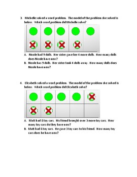 Matching a Model to Subtraction Word Problems
