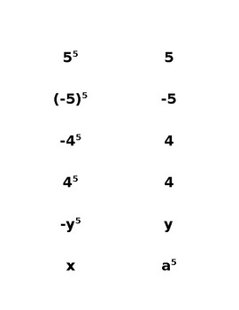 Matching an Integer Exponent with it's Base