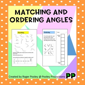 Matching and Ordering Angles, answer key included