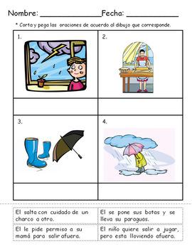 Sentences/Oraciones
