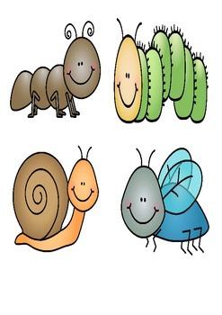 Matching bugs - spring activities