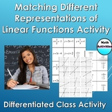 Matching different representations of linear functions activity.