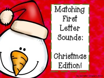 Matching first letter sounds: Christmas Edition