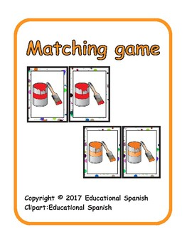 Matching game  Los colores / Spanish colors