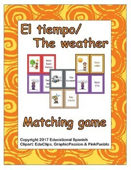 Matching game- El Tiempo / The Weather