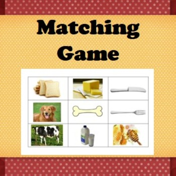 Matching game- Matching items that can go together