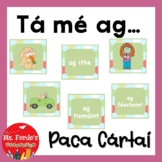 Matching game (action verbs) as gaeilge