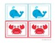 Matching game, animales  mar / Sea animals