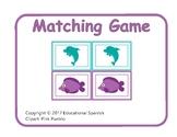 Matching game, animales  mar / Sea animals