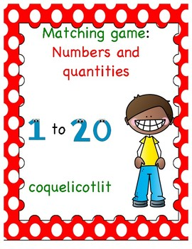 Matching game : numbers and quantities 1-20