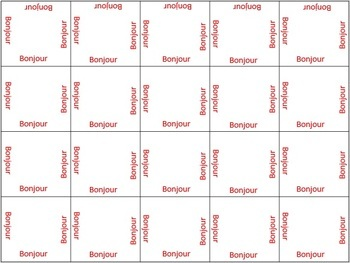 Matching game template for all subjects