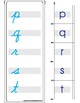Montessori Matching lower case letters, cursive and print. A to Z