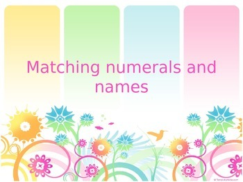 Matching numerals and names