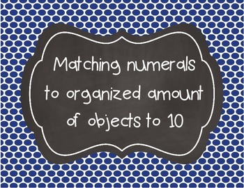 Matching numerals to an organized set of objects