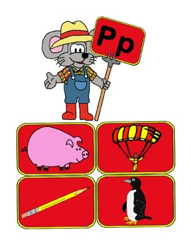 Matching phonics sounds for C, H, P, Q, and V