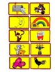 Matching phonics sounds for F, M, R, S, and W