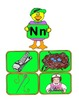 Matching phonics sounds for G, L, N, Y, and Z