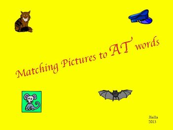 Matching pictures to At words